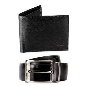 Flying Machine Belt And Wallet Set Black