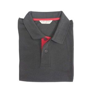 Flying Machine Collared T-Shirt Black With Red Placket