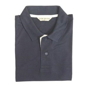 Flying Machine Collared T-Shirt Navy Blue With White Placket