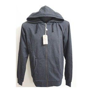 Flying Machine Hooded Sweatshirt Charcoal Grey