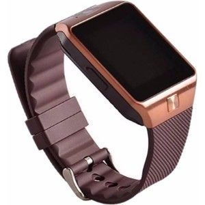 Kms With Sim, Memorycard Slot, Bluetooth And Fitness Tracker Copper Smartwatch  (Brown Strap)