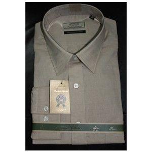 Linen Arrow Formal Shirt Coffee