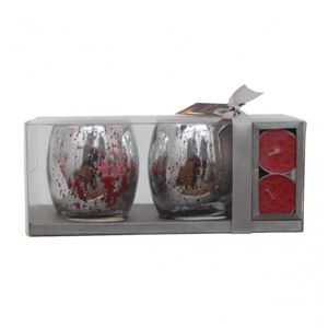 Gift Box (2 Glass Candles & 2 T- Light)