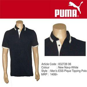 Puma Collared New Navy-White Polo T-Shirt