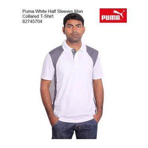 Puma White Halfsleeve T-Shirt