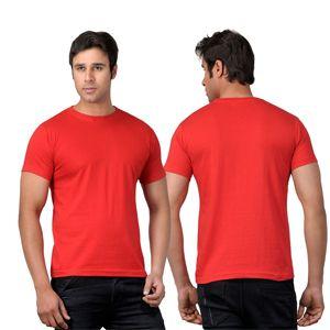 Scott Round Neck T-Shirt  Red