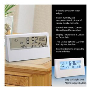 Sharp A105 Weather Station Clock(With See-Thru Display)