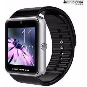 Shutterbugs Sb Silver Black Smartwatch  (Black Strap Free Size)
