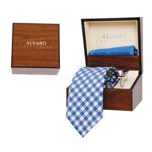 Alvaro Tie Cufflink Hank Set Blue Alcg 18