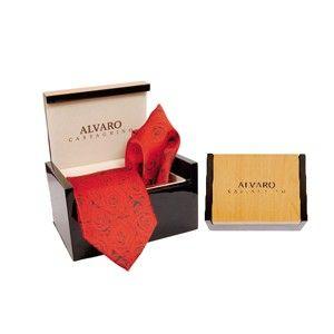 Alvaro Tie Hanky Set Red Alcg 17