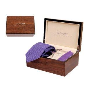 Alvaro Cuffling And Hanky Set Purple  Alcg 13