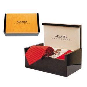 Alvaro Cuffling And Hanky Set Red  Alcg 16