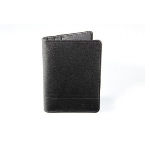 Elan Classic Lth Horizontal Card Holder-Black