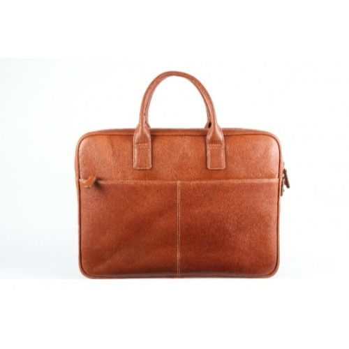 Elan Leather Business Bag-Tan