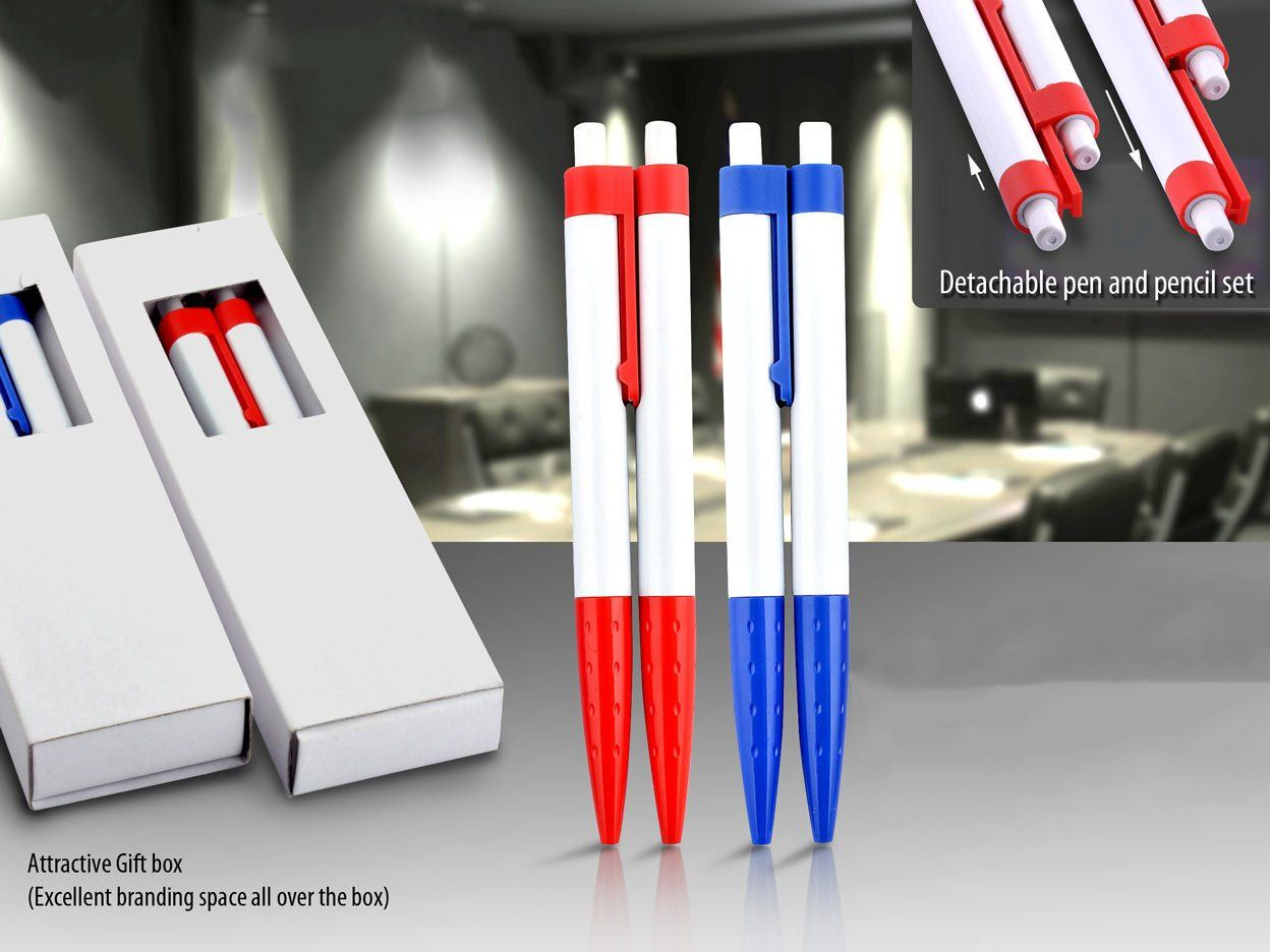 Power Plus Mr & Ms. Combi-Pen: Set Of Pen With Mechanical Pencil (0.7 Mm) (With Gift Box) L92
