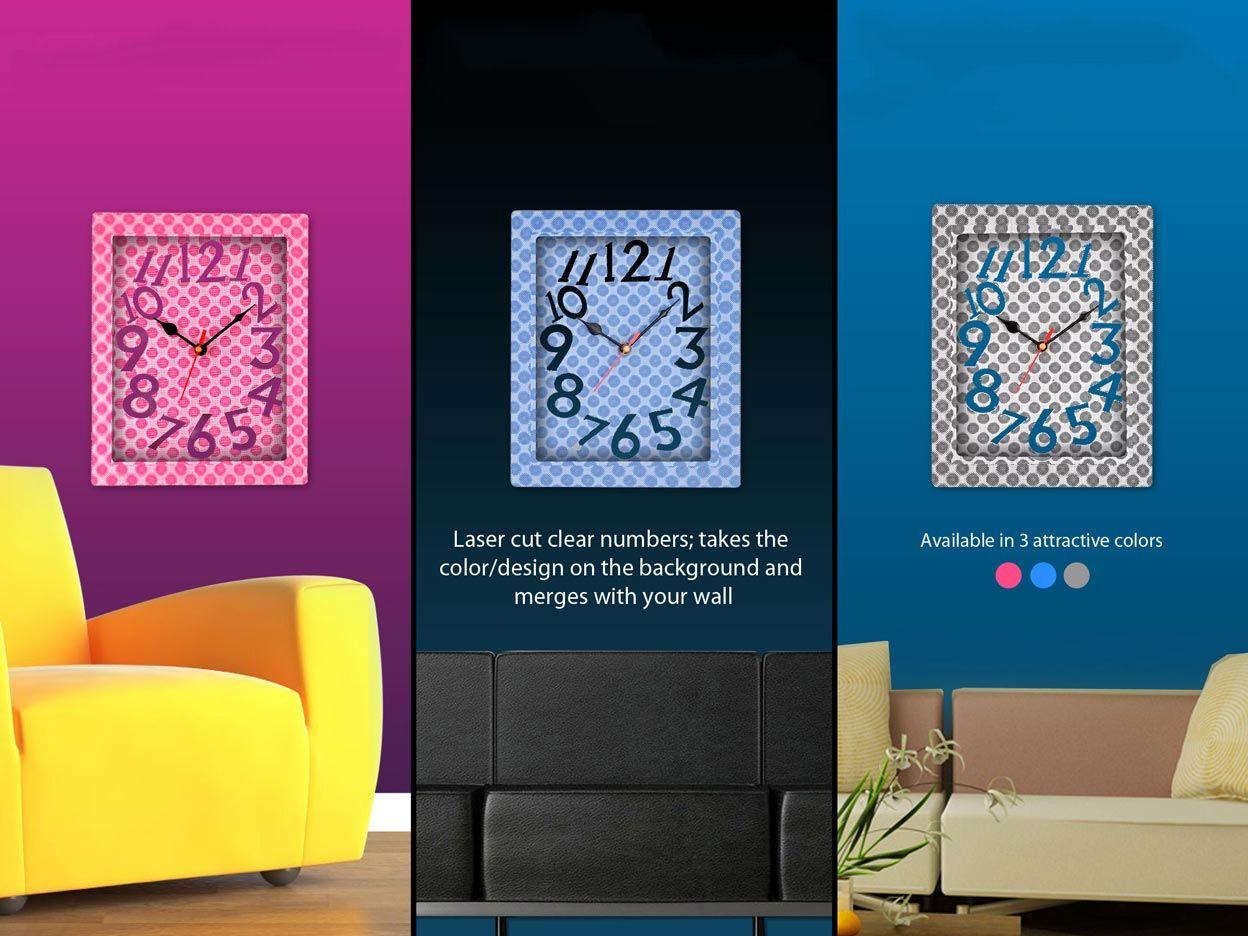 Power Plus 3D Wall Clock (5R Size) W04