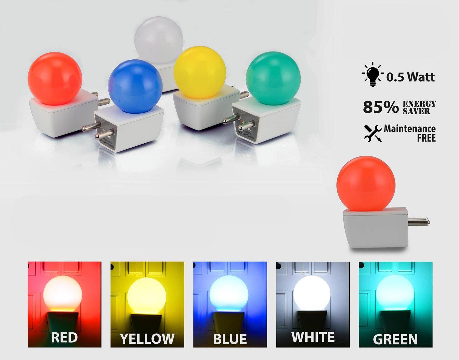 Power Plus Plug Me: Night Lamp With Half Watt Led (Unbreakable) E163