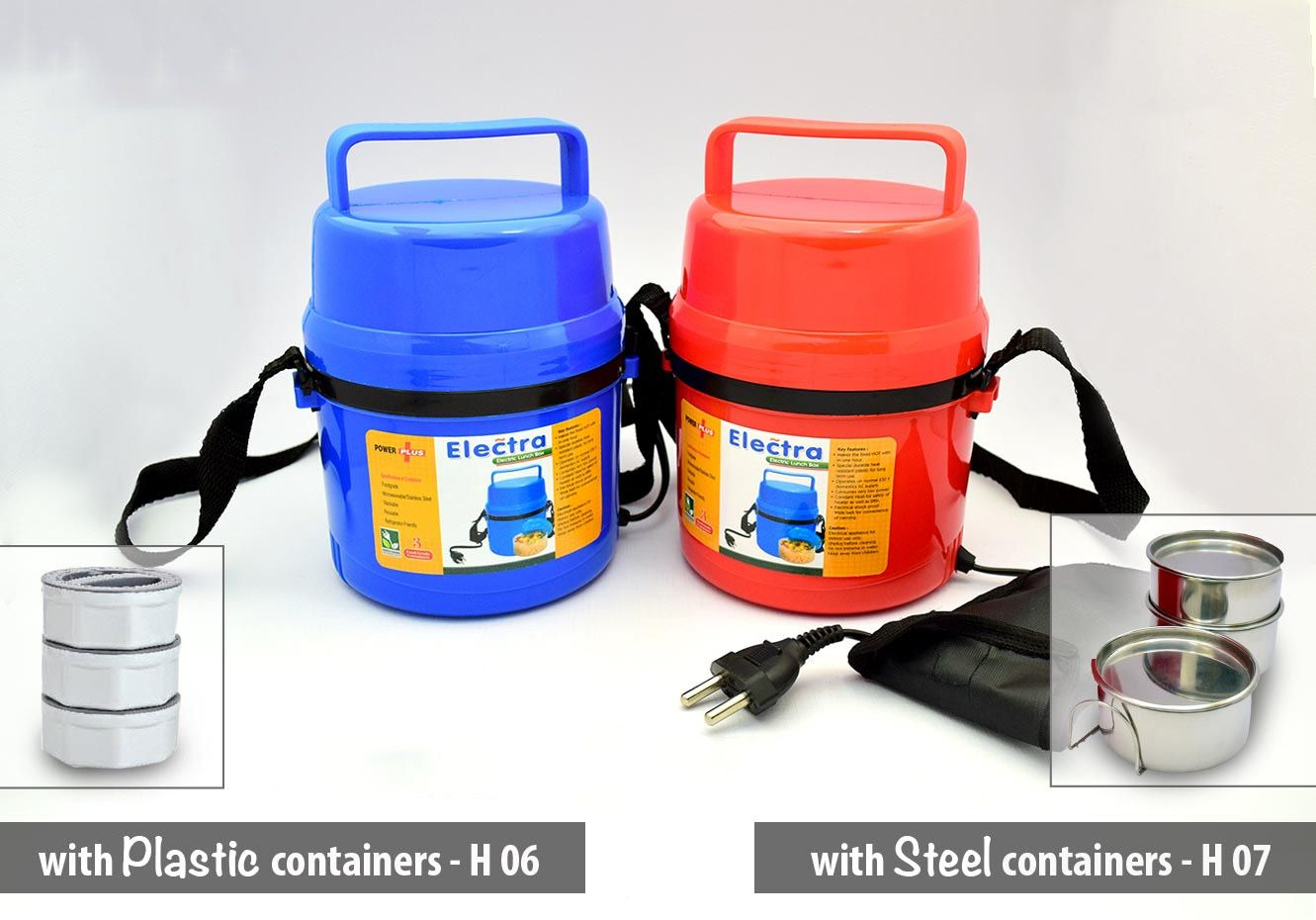 Power Plus Power Plus Electra Lunch Box Steel - 3 Container H07