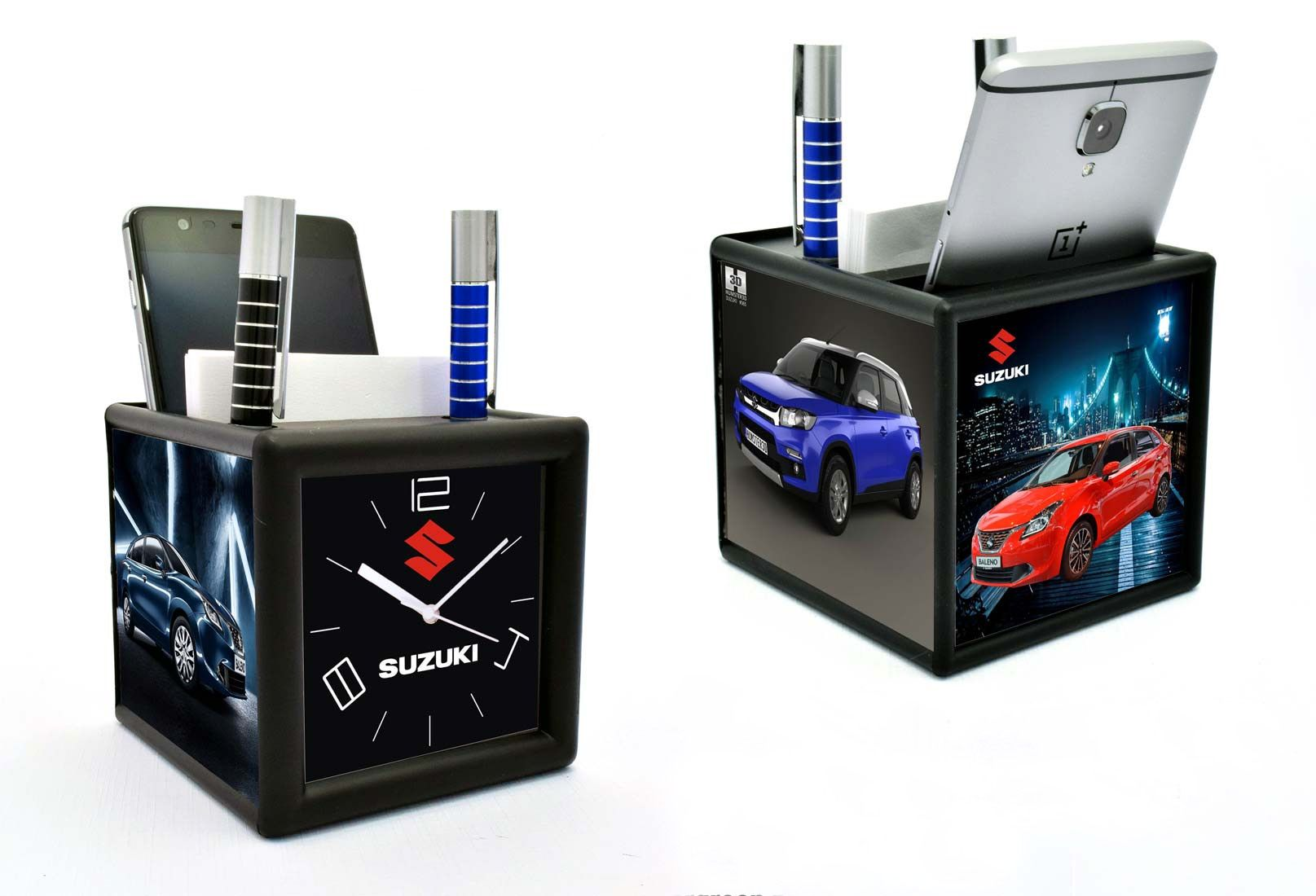 Power Plus Table Clock With Pad And Mobile Holder (4 Side Branding Area) (Branding Included) (Moq: 200 Pcs) A109