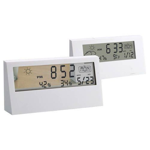 Power Plus Sharp Weather Station Clock With Backlight A104 White