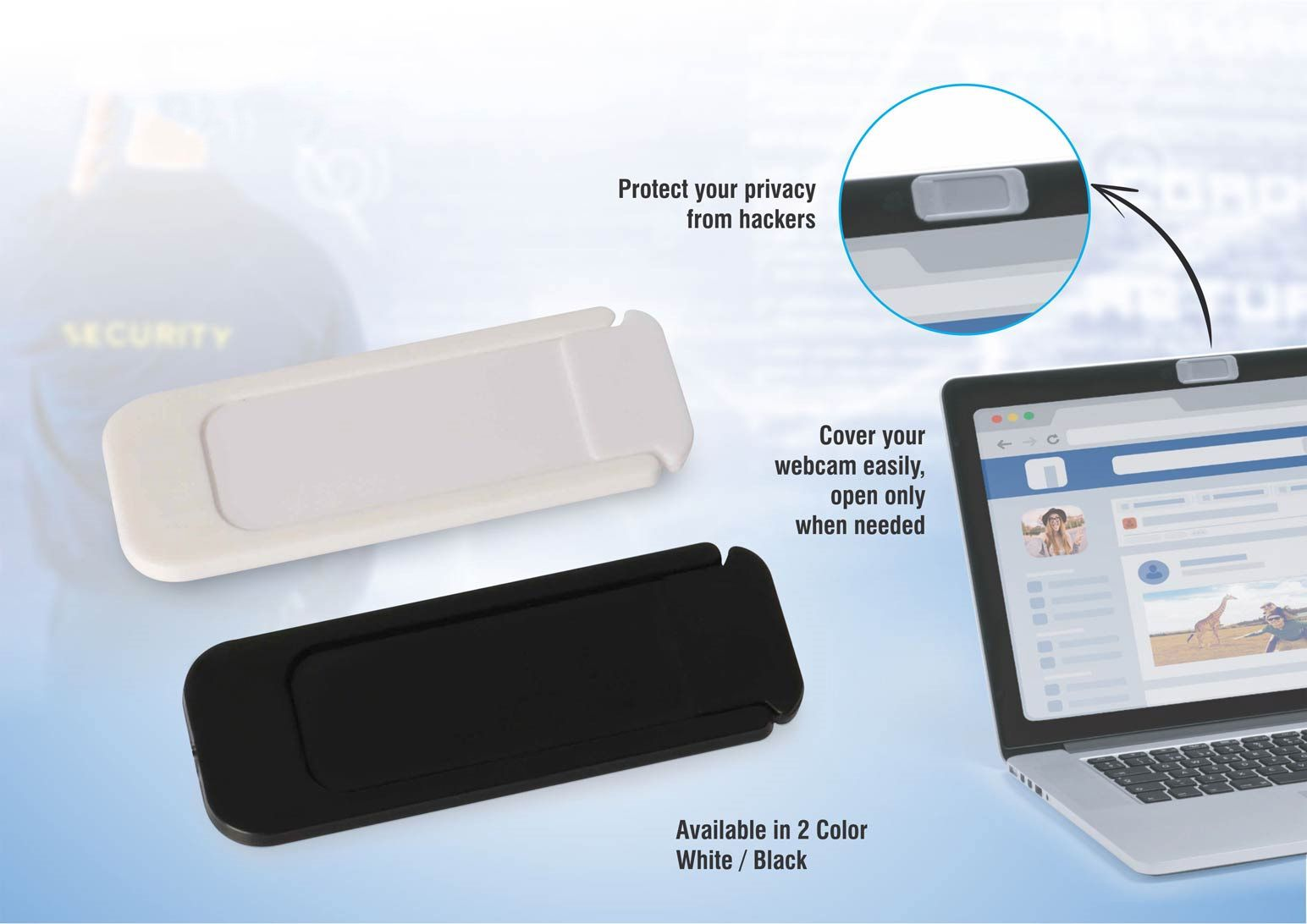Power Plus Sliding Privacy Guard Webcam Cover E237