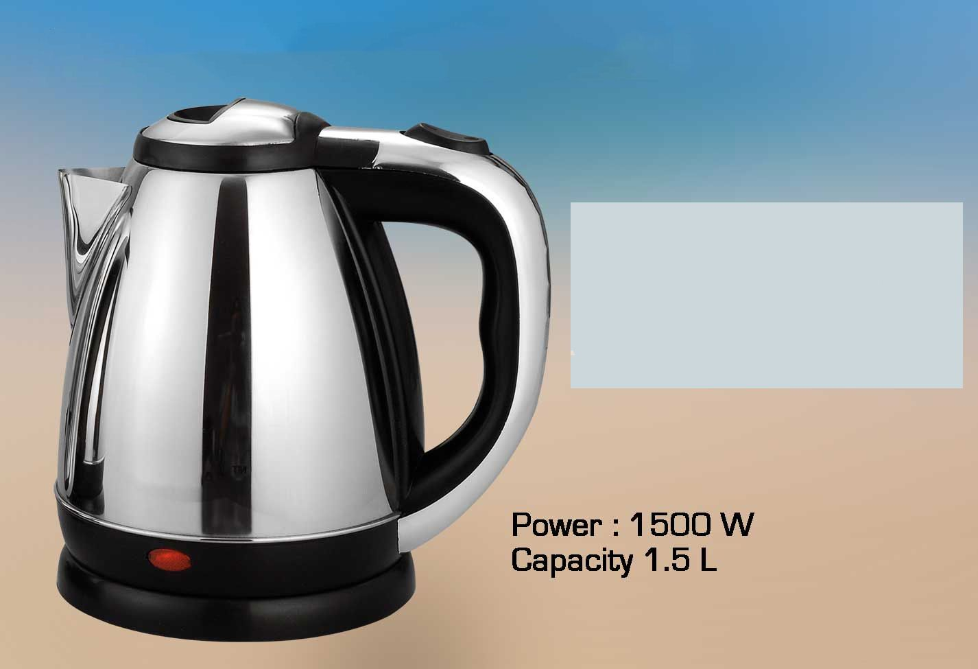 Power Plus Stainless Steel Electric Kettle (1.5 L) H61 Silver