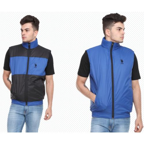 U.S. Polo Assn. Reversible Sleeveless Jacket - Black And Royal Blue(M)