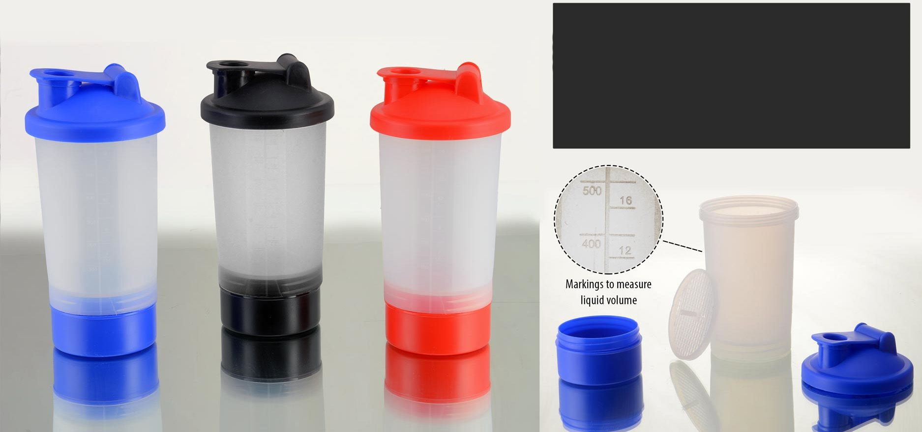 Power Plus Ultra Shaker With Compartment (4 Pc) H112